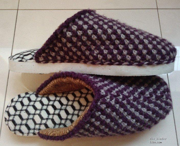 毛线编织拖鞋怎么编图片