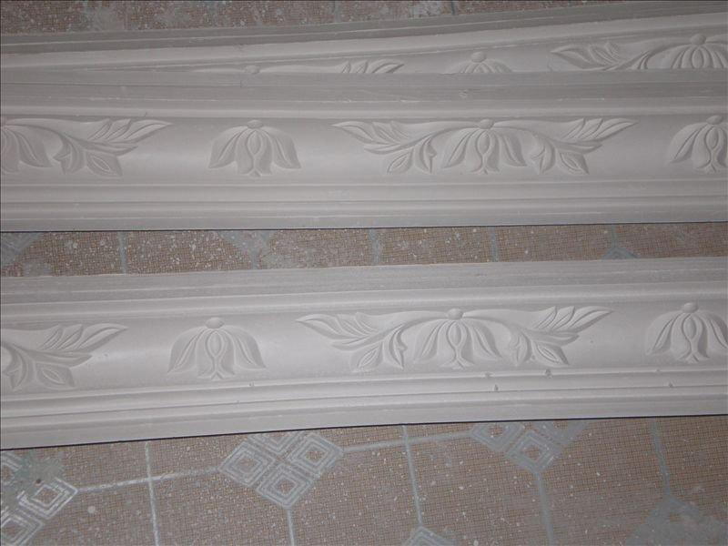 石膏线荷花图案效果图