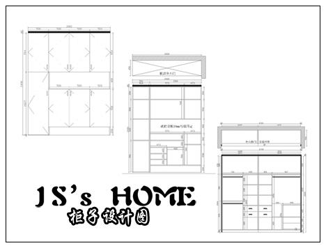 格瑞特的柜子設計圖紙,算下來1個2米的玄關柜+1個2.圖片
