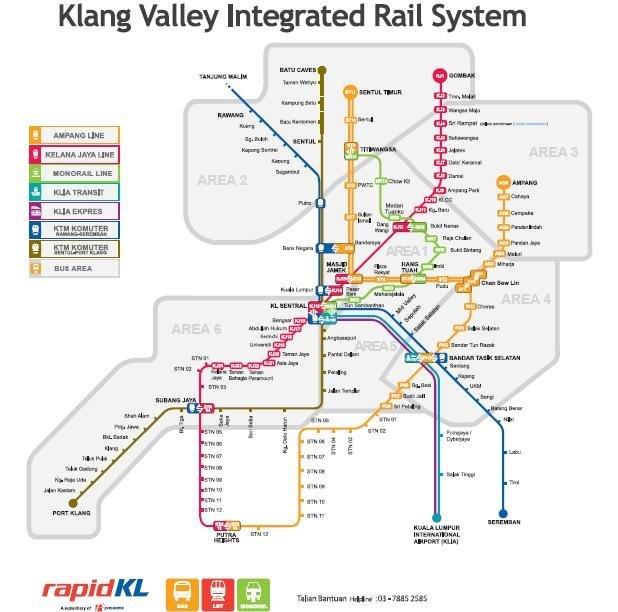 贴上地图,吉隆坡地铁地图