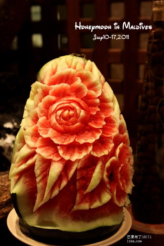 西瓜雕花好漂亮啊