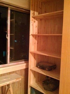 木工做的阳台柜子