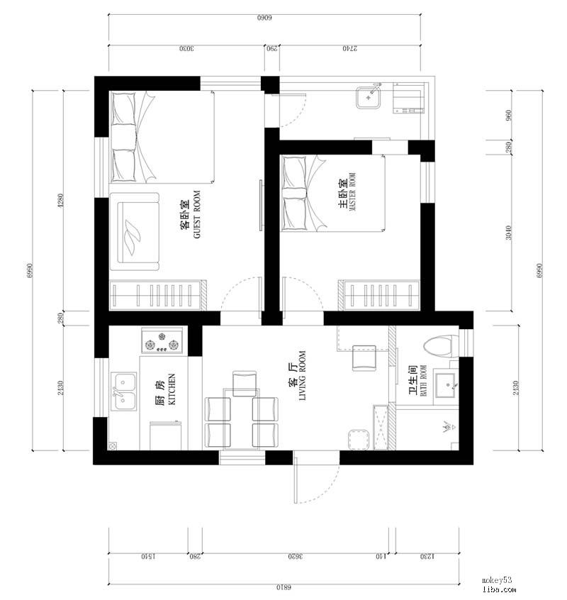 ps室内平面图地砖素材