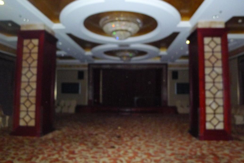 大厅里的转角弧形楼梯非常欧式非常气派的伸向二楼