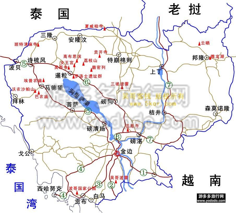 金边市详细高清地图