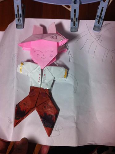 幼儿园手工折纸宝塔