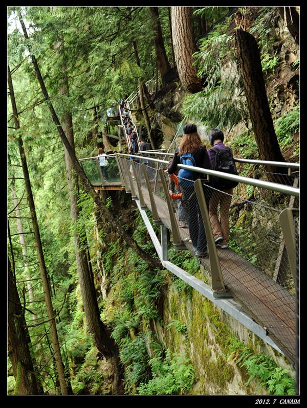 这是紧贴悬崖用钢结构搭出的栈道,颇有特色.