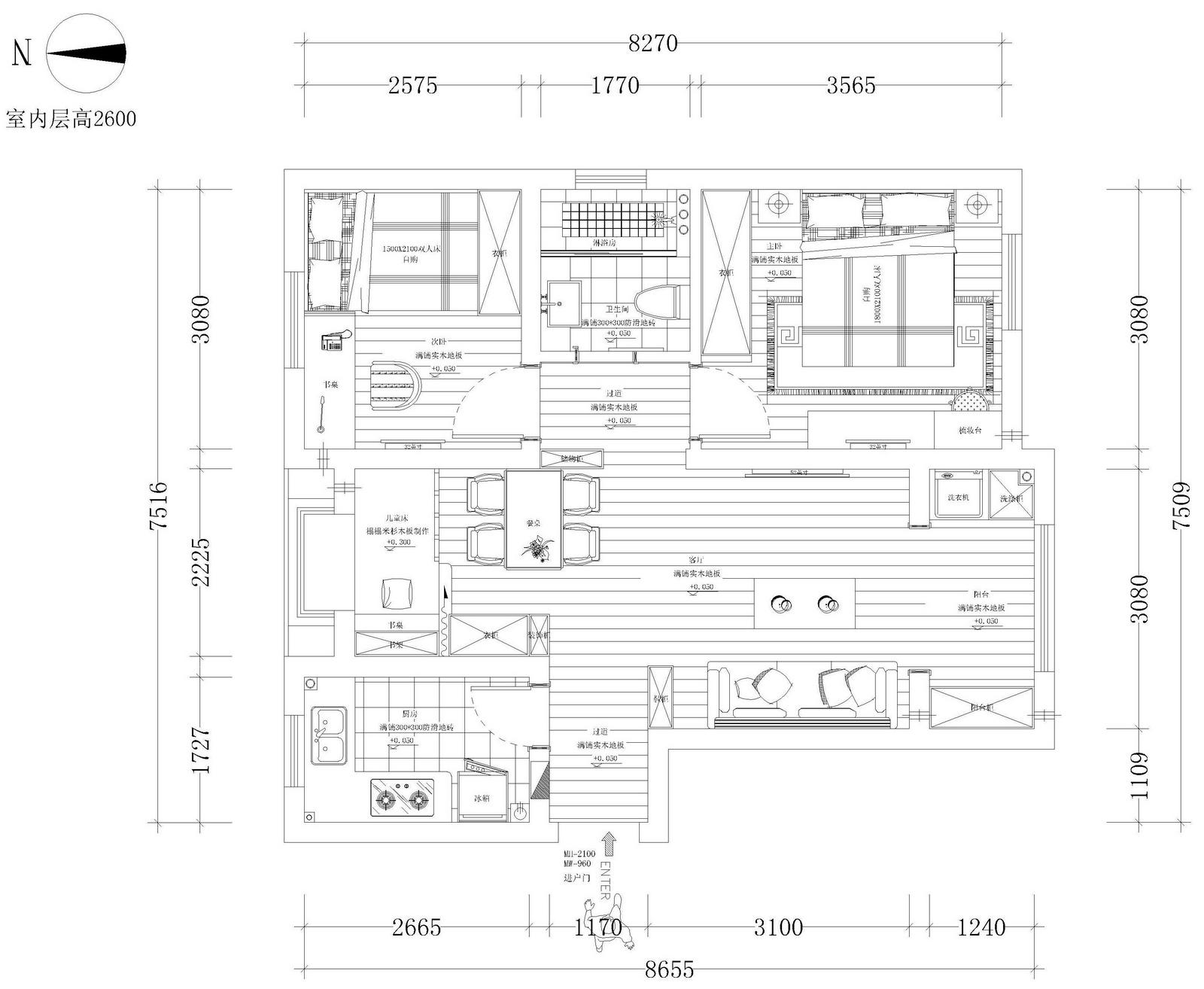 四人宿舍平面设计图