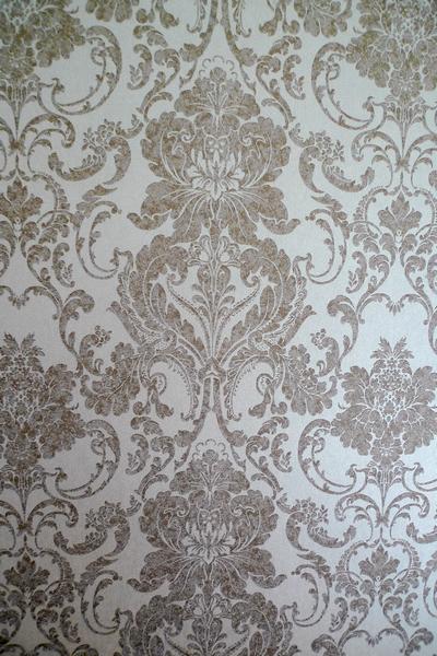 墙纸花纹细节.其实深色部分都带闪的,看得清吗?