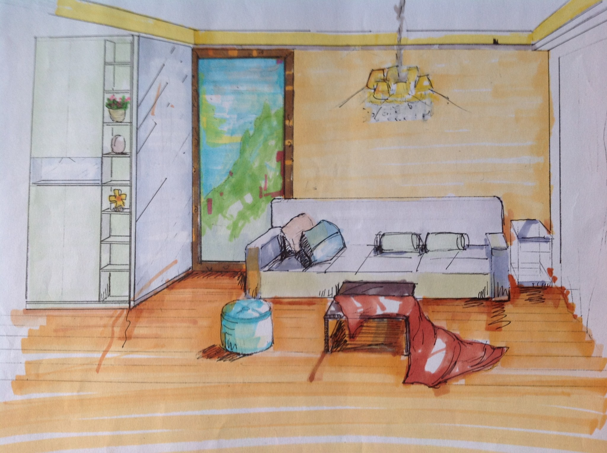 上手繪圖~~客廳