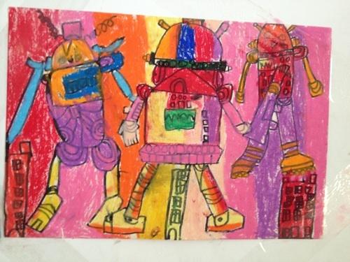 放学后画画,今天画的机器人.