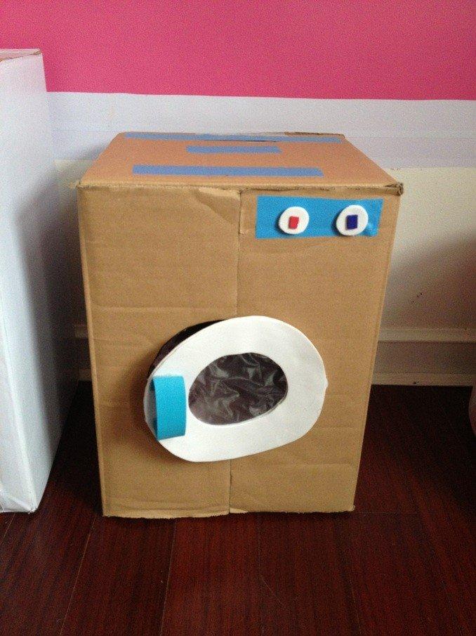 纸箱电视机制作洗衣机