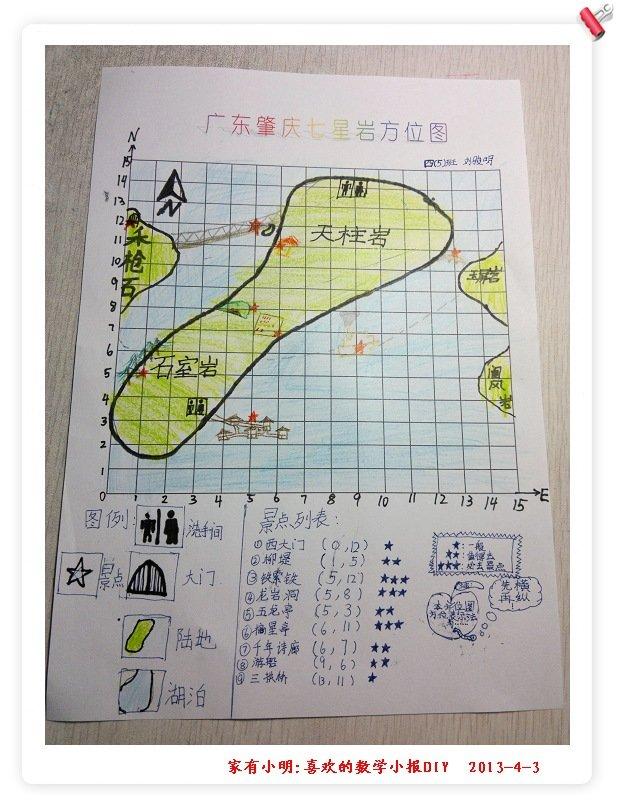 p52新增小朋友七星岩手绘地图一张!