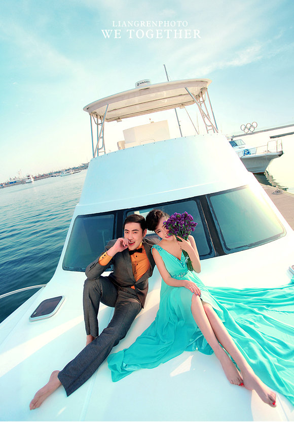 我的结婚照,去青岛拍的