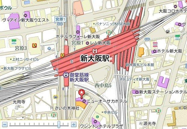 大阪卡通手绘地图