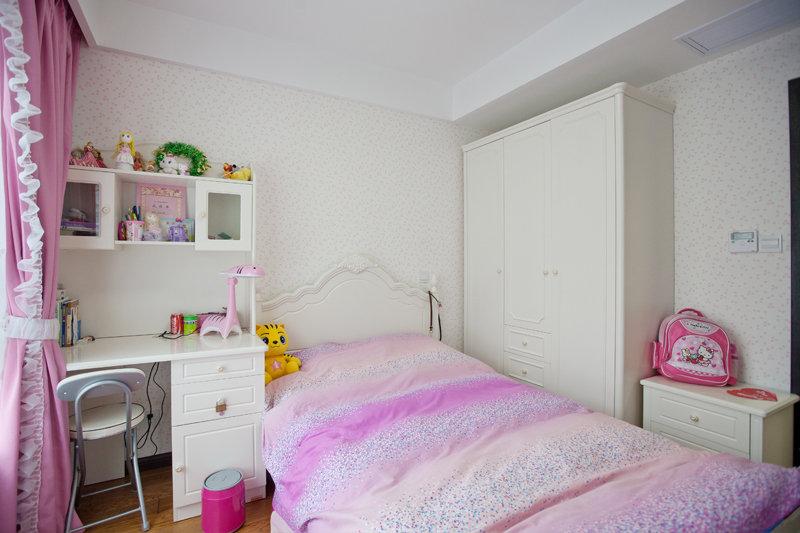 房二厅大户型混搭风格房屋儿童房儿童床书桌衣柜装修效果图
