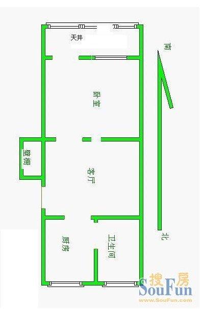 主题:小户型 50平 一字型房型 求达人指点