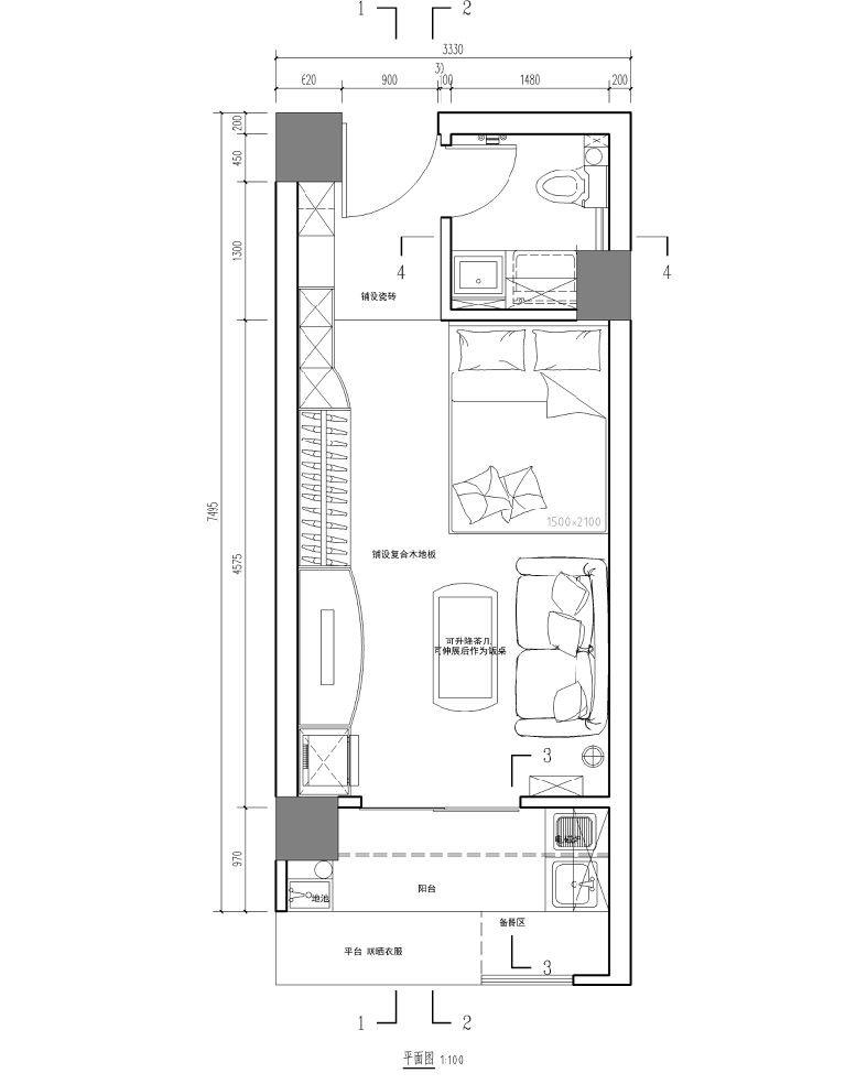 30平米单身公寓求设计意见求报价 装修讨论 篱笆网