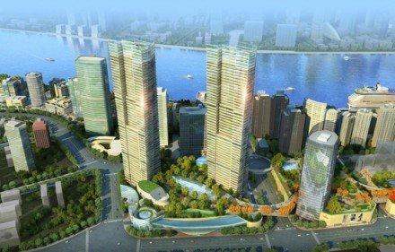荣登上海最高双子塔