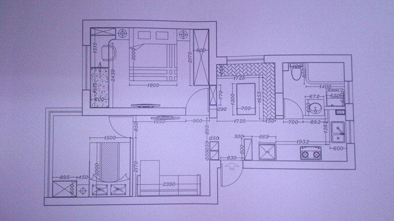 62平米小户型两室装修日记