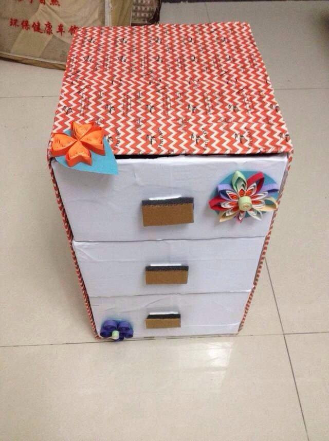 今年的幼儿园作业.纸盒大变生