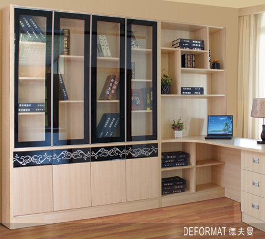 期待的转角书桌和书柜效果图