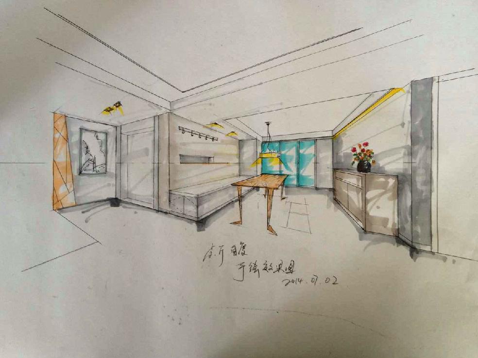 房间设计手绘图衣柜