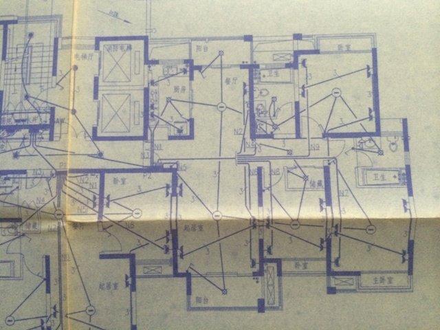 物业拍的承重墙结构图