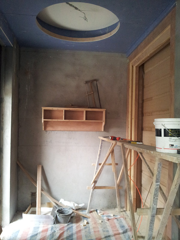 木工活进展情况,吊顶和玄关位置