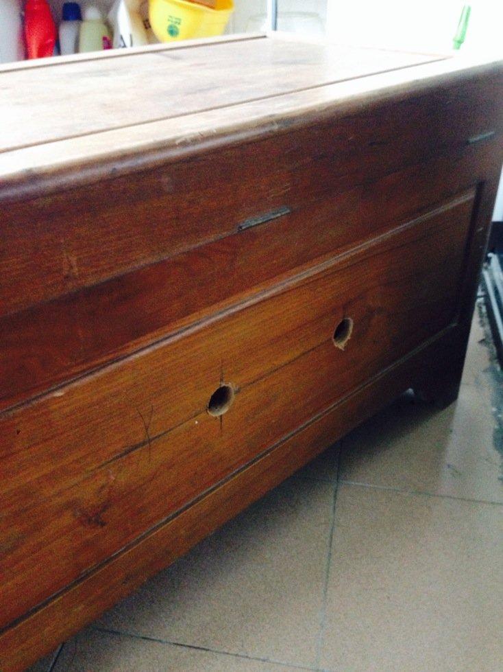 改造老房子多余樟木箱台盆柜