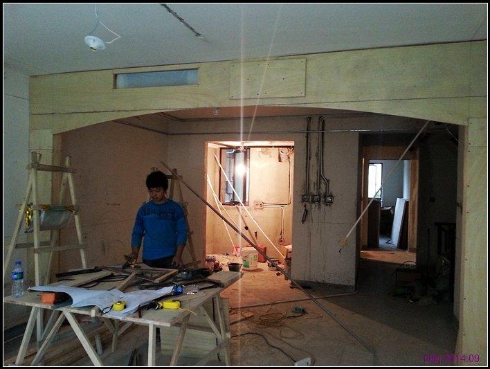 自己设计出施工图季建平监理砖砌橱柜+砖砌洗脸台