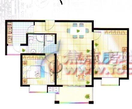 96平方房子平面设计图