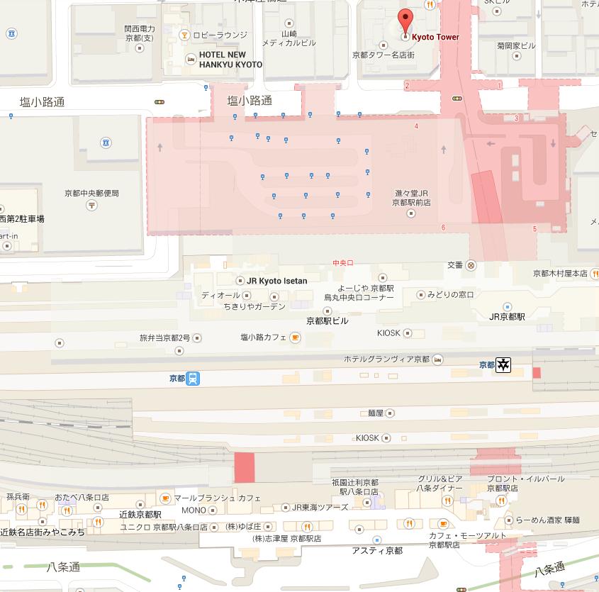京都站 京都塔 酒店附近地图