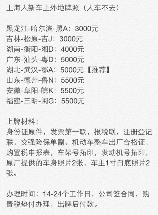 上海人上外地车牌_上海人上外地牌照,人车不去,上海户口上外地牌