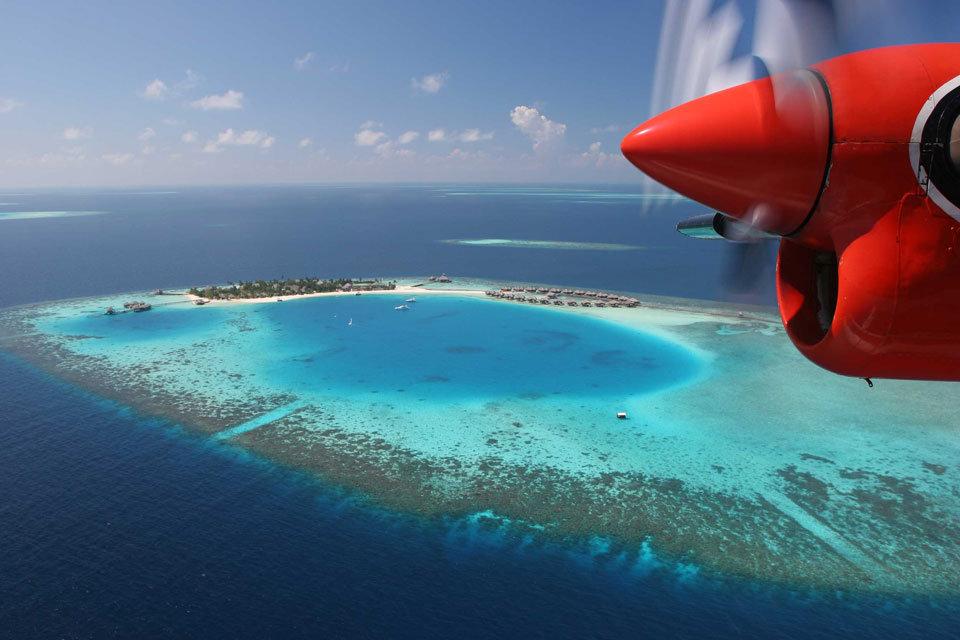 马尔代夫水上飞机 旅游天地
