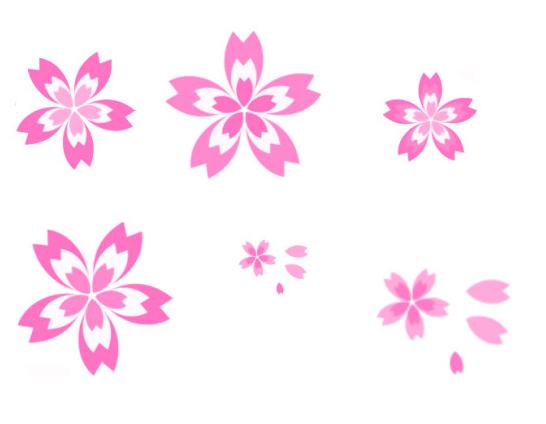 一朵樱花图片手绘_简笔画10种花