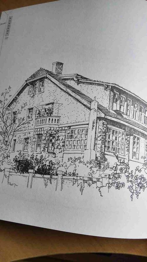 钢笔画老建筑