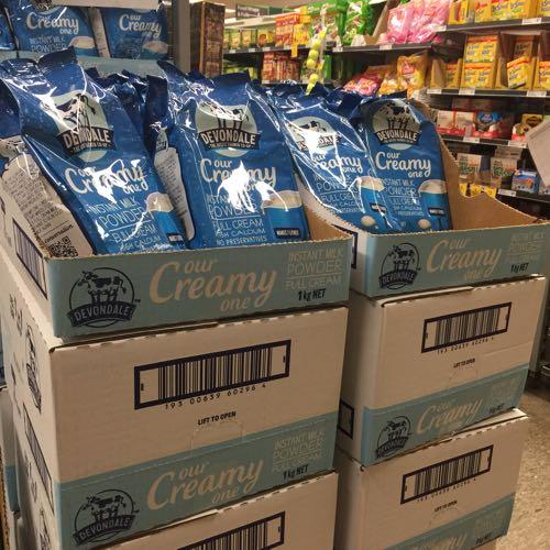 转澳洲原装德运全脂脱脂奶粉