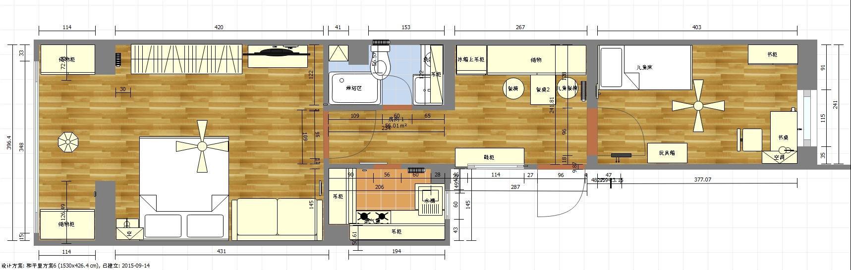 研读篱笆数月经典小户型(80筑2居)学区房历时2个月自行设计求指点