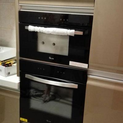 有家里用嵌入式电烤箱和隐藏式欧式触控油烟机的版友吗