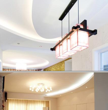 弧形吊灯 圆型灯槽灯管.