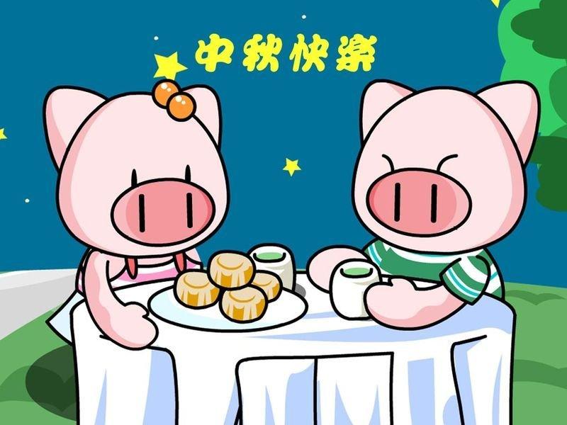 中秋节儿童画 传统节日 中秋节图片