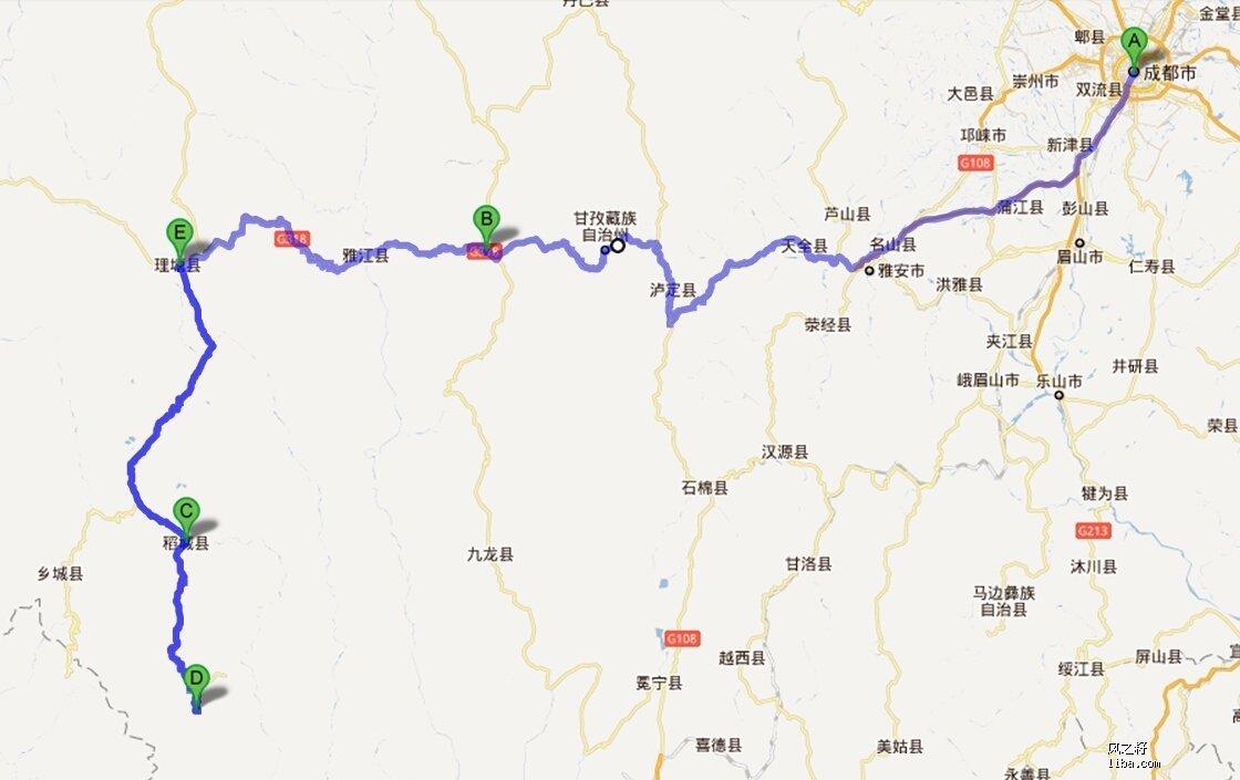 四川省甘孜理塘地图_地图分享